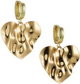 Nakamol Huggie Hoop Heart Earrings