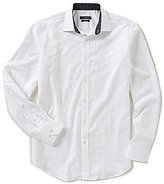 Bugatchi Classic-Fit Solid Jacquard Long-Sleeve Woven Shirt
