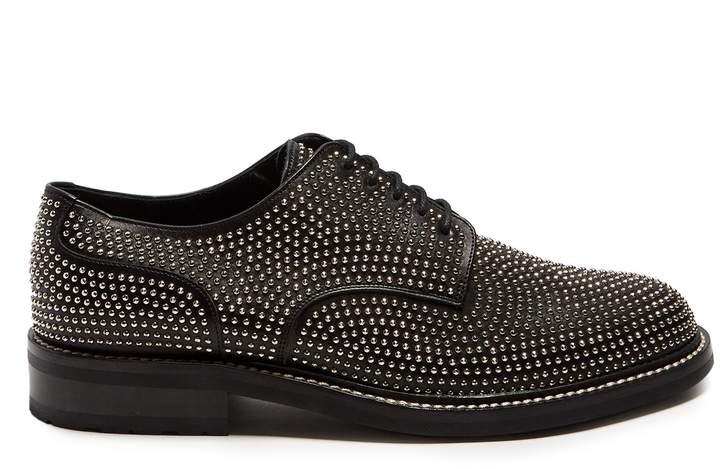 Saint Laurent Stud-embellished leather derby shoes