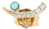 Sydney Evan Tusk 14kt Yellow Gold Turquoise And Diamond Earrings