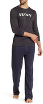 Lucky Brand Long Sleeve Crew Neck & Thermal Pant Gift Set