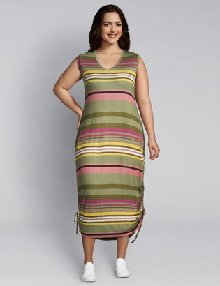 Lane Bryant Printed Side-Tie Midi Dress