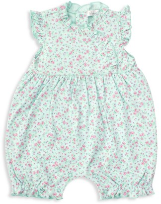 Kissy Kissy Baby Girl's Dusty Rose Ruffle-Trim Bloomer Romper