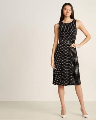Tommy Hilfiger Black & Cream Baby Deb Dot Belted Jersey Dress