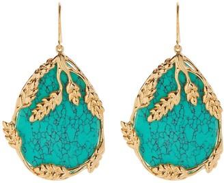 Aurelie Bidermann Francoise Turquoise Earrings