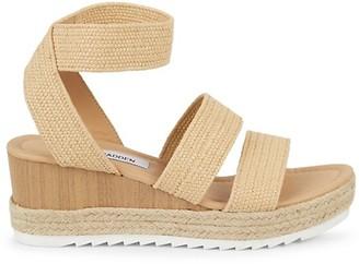 Steve Madden Yaro Raffia Platform Ankle-Strap Sandals