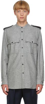 Jil Sander Grey Wool Flannel Shirt