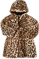 American Widgeon Leopard Faux-Fur Jacket-BROWN