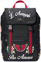 Gucci Embroidered technical canvas backpack - women - Leather/Nylon/Canvas - One Size