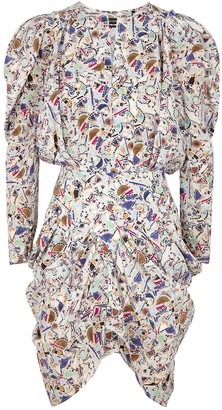 Isabel Marant Margaretia printed stretch-silk mini dress