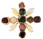 Chanel Faux Pearl & Glass Brooch