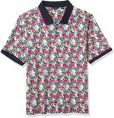 Thumbnail for your product : Perry Ellis Men's Big & Tall Floral Print Short Sleeve Polo Shirt