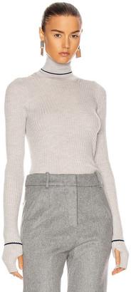 Maison Margiela Ribbed Sweater in Medium Grey & Blue | FWRD