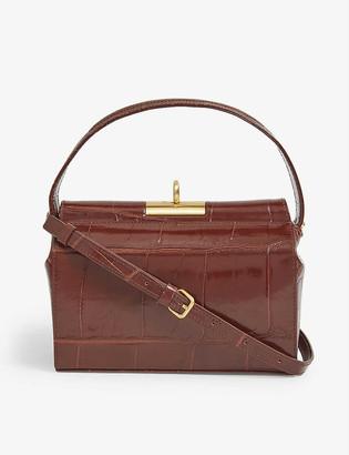 Gu_de Milky mini croc-embossed leather top-handle bag