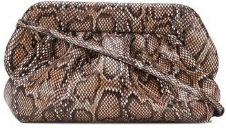 Themoirè Snakeskin Textured Clutch Bag