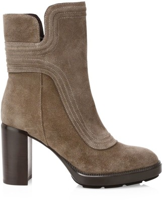 Aquatalia Illiana Block-Heel Suede Boots