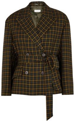 Dries Van Noten Bouncy Checked Wool-blend Blazer