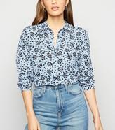 New Look Butterfly Print Long Sleeve Shirt