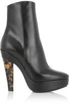 Stella McCartney Faux leather and tortoiseshell-effect ankle boots