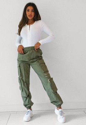 Missguided Tall Khaki Cargo Trousers