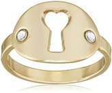 Scooter SY10266970 Eden Women's Metal Ring With Swarovski Crystals, Gold-White