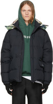 Undercover Black Down human Control System Puffer Jacket