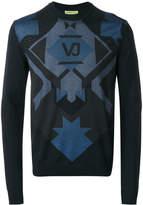 Versace geometric print jumper