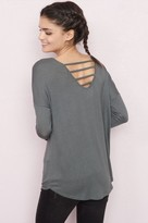 Garage Long Sleeve Ladder Back Tunic Top