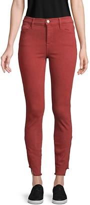 Frame Le High Cutout-Cuff Skinny Jeans