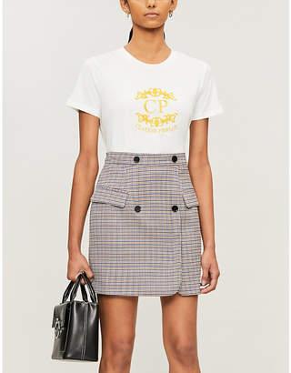 Claudie Pierlot Logo-embroidered cotton-jersey T-shirt