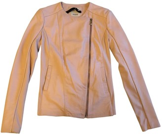 Pinko Pink Leather Jacket for Women