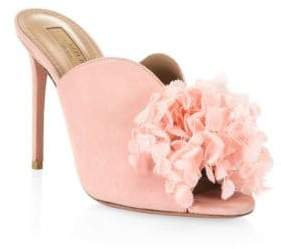 Aquazzura Lily Of The Valley Leather Mules