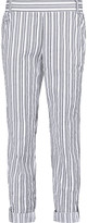 Splendid Striped cotton-blend tapered pants