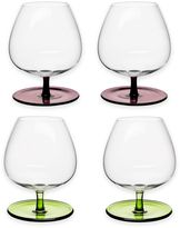 Sagaform Rocking Bar Glasses with Stems in Assorted Colors (Set of 4)