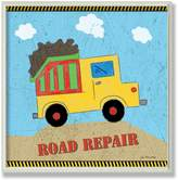 Stupell Industries The Kids Room by Stupell Road Repair Yellow Dump Truck Square Wall Plaque