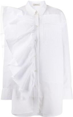 Nina Ricci Oversized Ruffle Trimmed Shirt