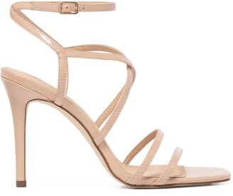 Forever New Evie Strappy Stiletto Heels - Nude Patent - 36