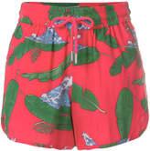 Zoe Karssen wave and palm leaf shorts
