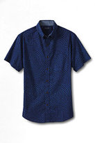 Classic Men's Slim Fit Short Sleeve Buttondown Madras Shirt-Ivory Plaid