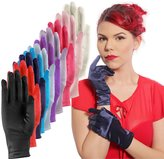 Hey Viv ! Women's Solid Color Satin Dress Gloves - Party, Evening, Wedding or Dress Up