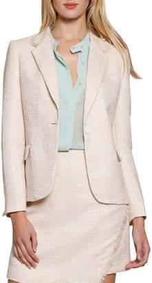 Kari Boucle Fringe Suit Jacket