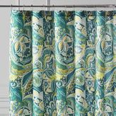 Pier 1 Imports Vibrant Paisley Teal Shower Curtain