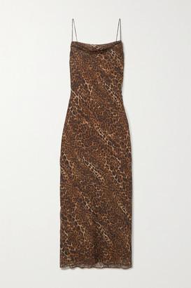 CAMI NYC The Carla Leopard-print Silk-chiffon Midi Dress - Brown