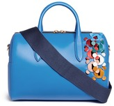 Anya Hindmarch 'Vere Barrel Hedra' geometric cutout leatherwork duffle bag
