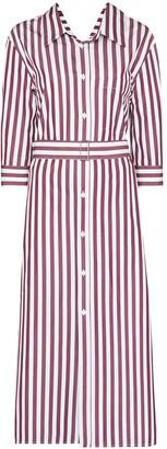 Marni Stripe-Pattern Midi Shirt Dress