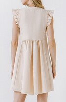 Thumbnail for your product : ENGLISH FACTORY Mixed Media Ruffle Dress