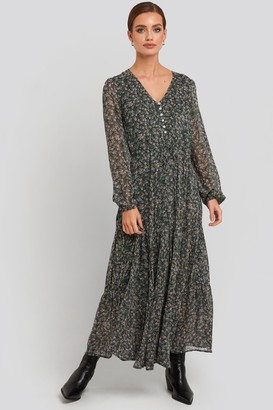 MANGO Liberty Dress Green