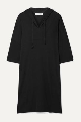 Skin - Neema Hooded Ribbed Jersey Tunic - Black