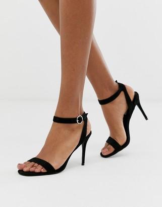Steve Madden Strutting black suede mid heeled sandals