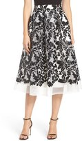 Eliza J Sequin Mesh Midi Skirt